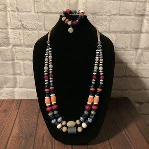 Chico's beaded necklace/bracelet set